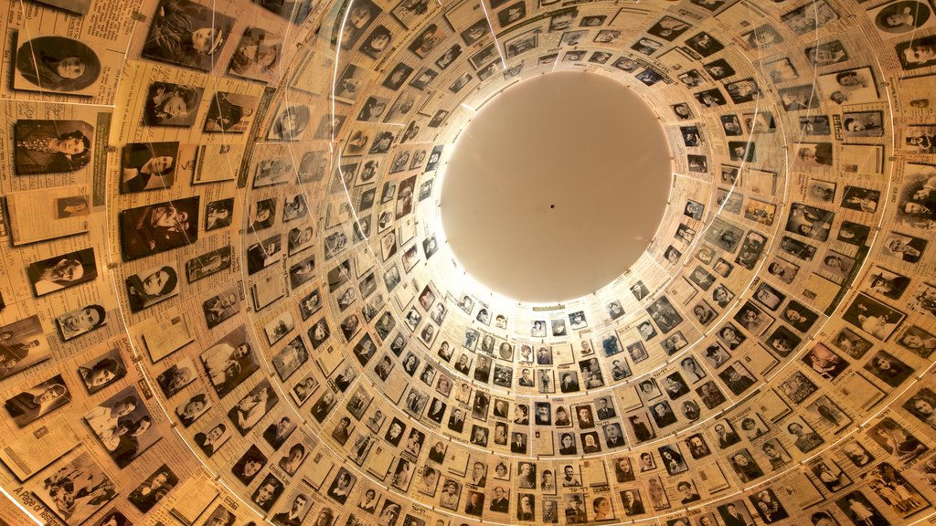 Yad Vashem showing interior views