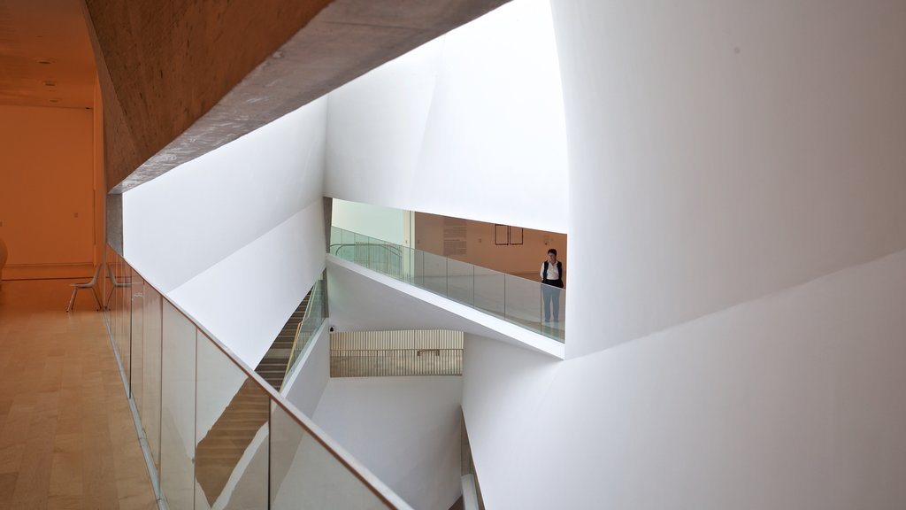 Tel Aviv Museum of Art which includes interior views as well as an individual femail