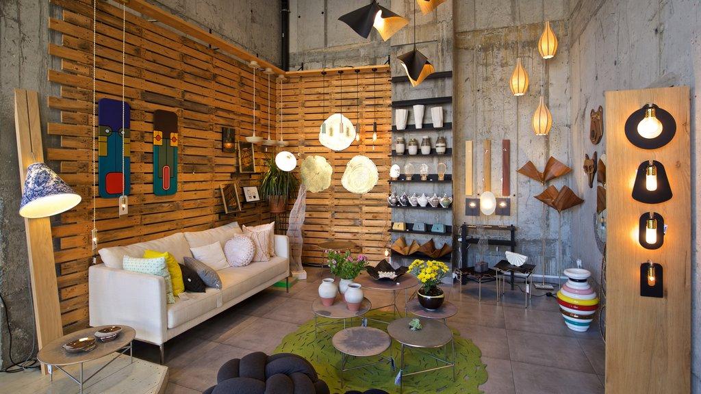 Jaffa featuring interior views