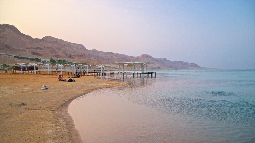 Ein Bokek featuring general coastal views, a sunset and a beach