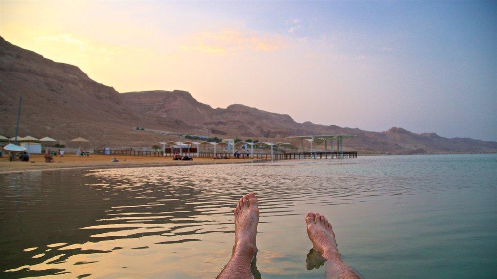 Ein Bokek showing a beach, general coastal views and swimming