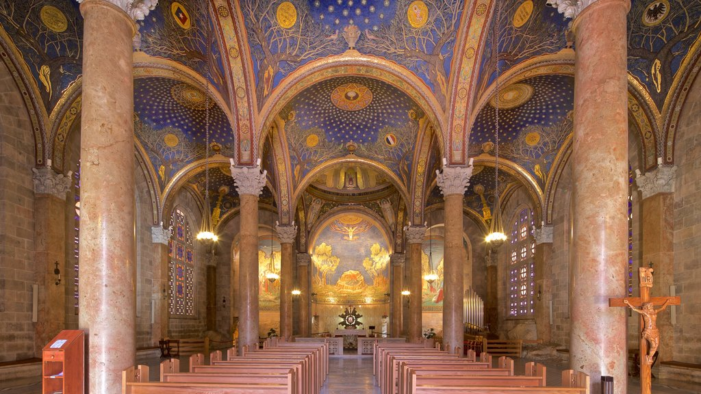Church of All Nations featuring a church or cathedral, heritage elements and interior views