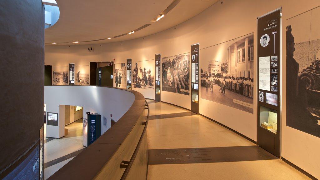 Yitzhak Rabin Center mostrando vistas interiores
