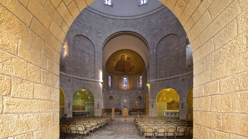 Dormition Abbey which includes interior views, a church or cathedral and heritage elements