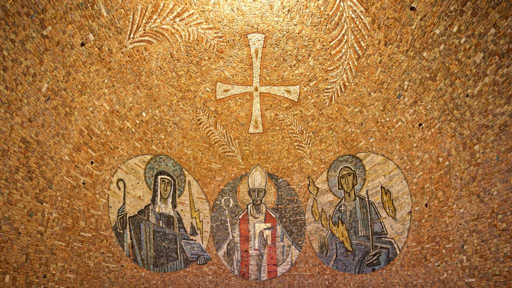 Dormition Abbey featuring art and religious aspects