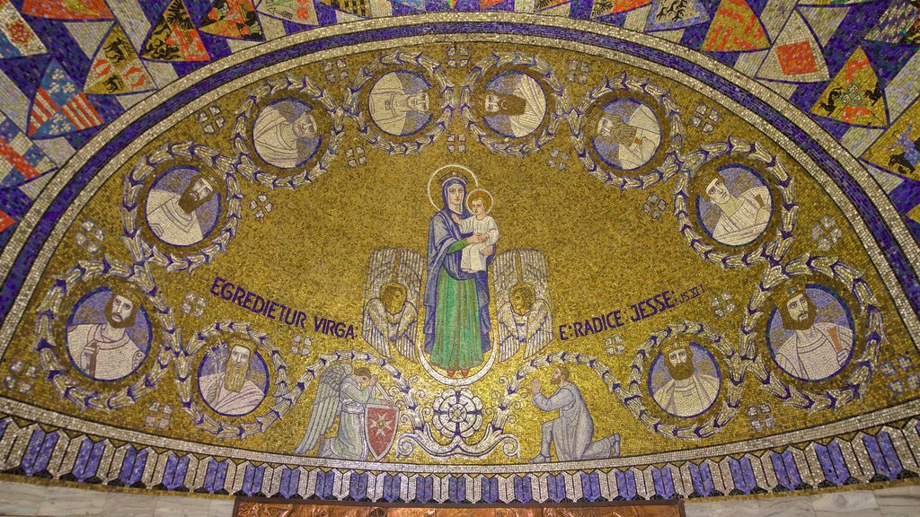 Dormition Abbey showing art and religious aspects