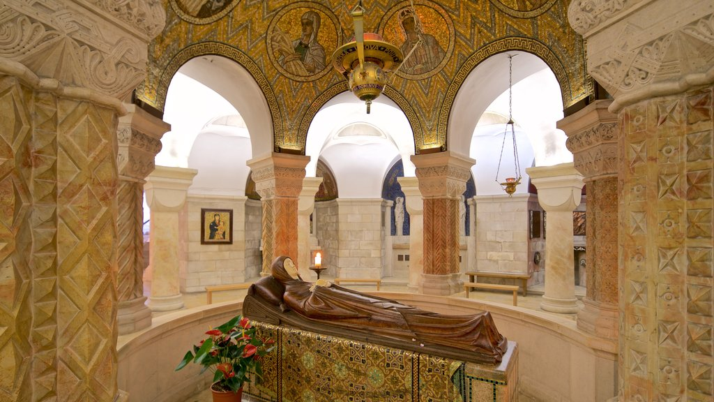 Dormition Abbey which includes religious aspects, interior views and heritage elements