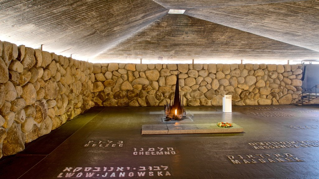 Yad Vashem which includes interior views and heritage elements