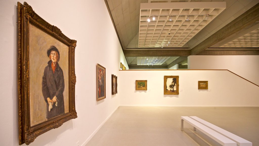 Tel Aviv Museum of Art featuring art and interior views