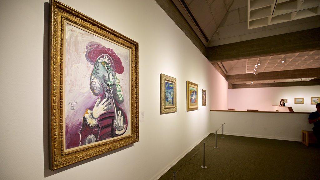 Tel Aviv Museum of Art featuring interior views and art