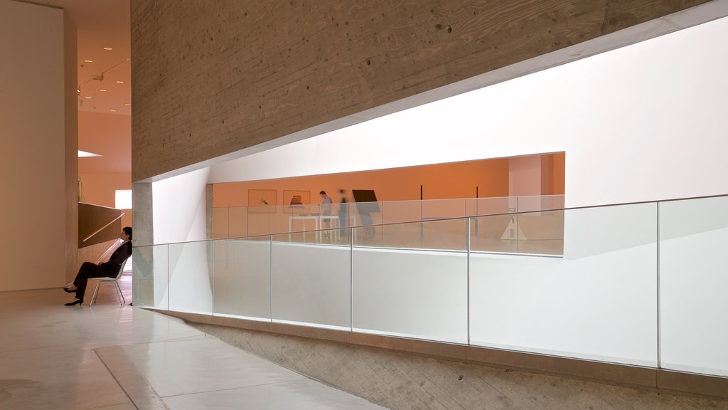 Tel Aviv Museum of Art showing interior views as well as an individual femail