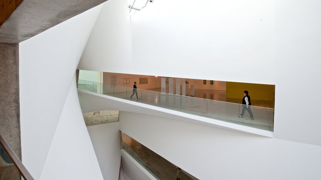 Tel Aviv Museum of Art which includes interior views as well as a small group of people