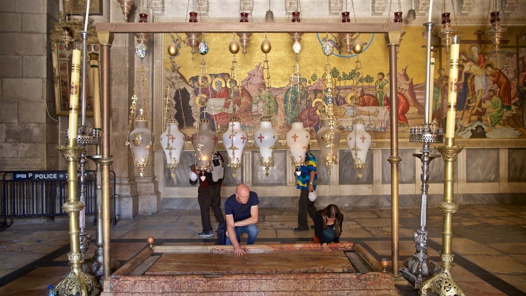 Church of the Holy Sepulchre which includes heritage elements and interior views as well as a couple