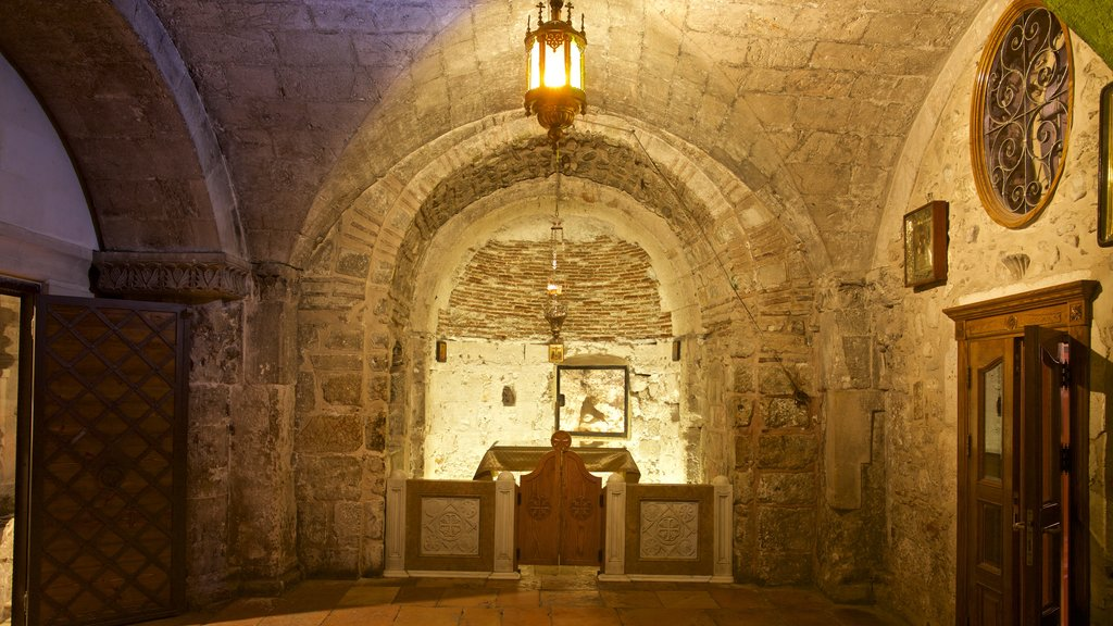 Church of the Holy Sepulchre which includes heritage elements and interior views