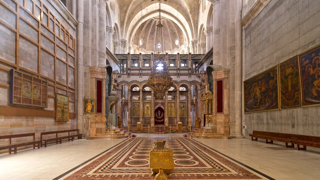 Church of the Holy Sepulchre featuring heritage elements, a church or cathedral and interior views