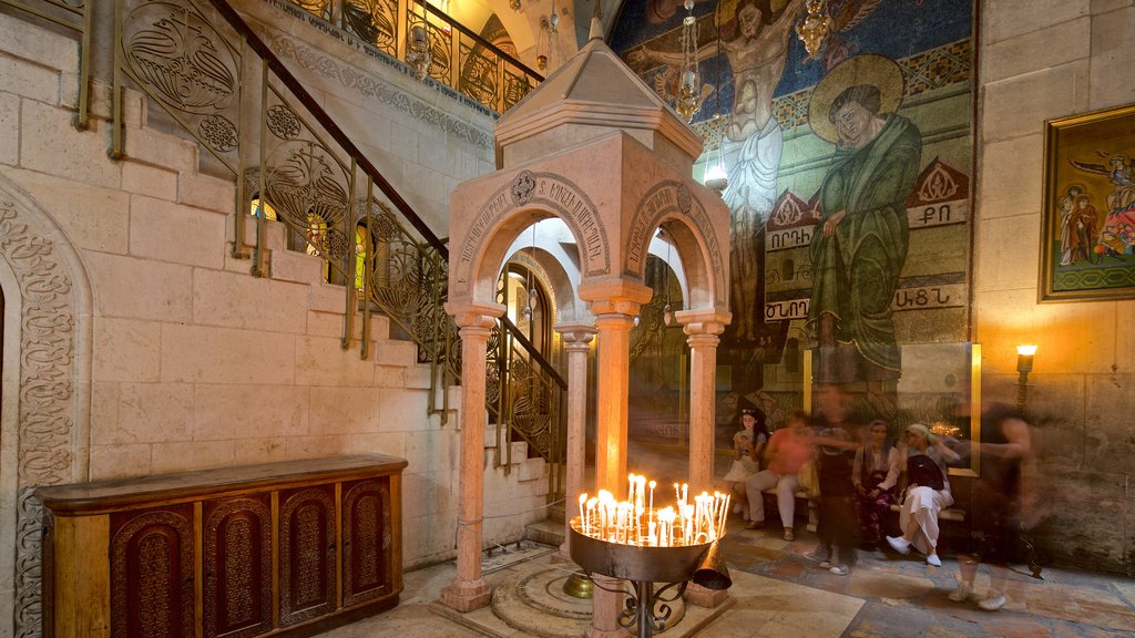 Church of the Holy Sepulchre showing interior views, a church or cathedral and heritage elements