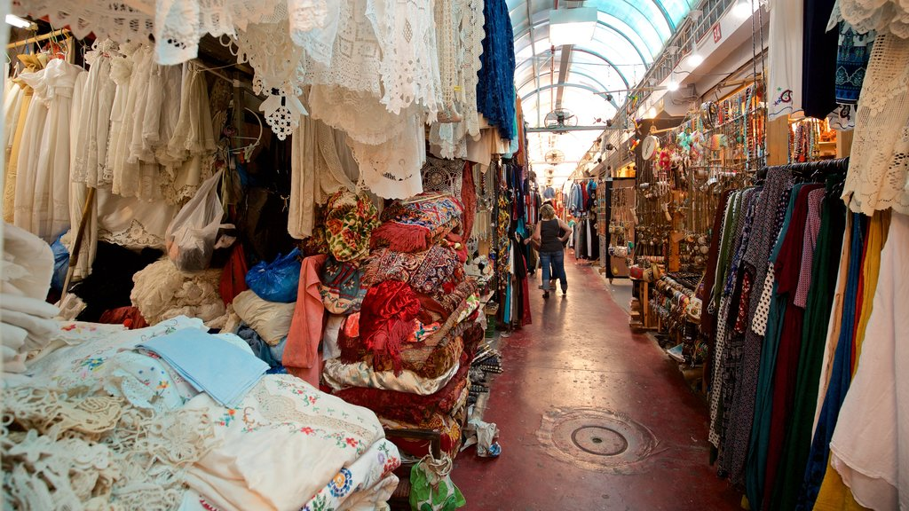Jaffa Flea Market featuring markets and interior views