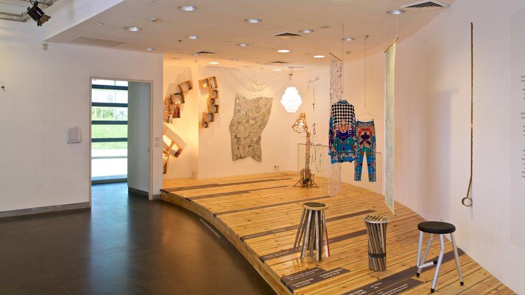 Design Museum Holon featuring interior views and art