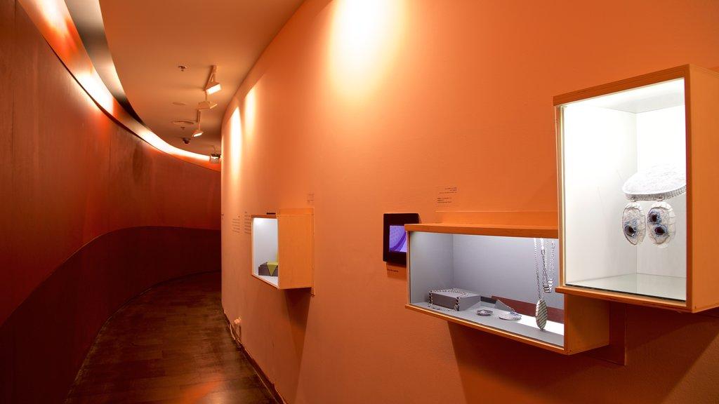 Design Museum Holon featuring interior views