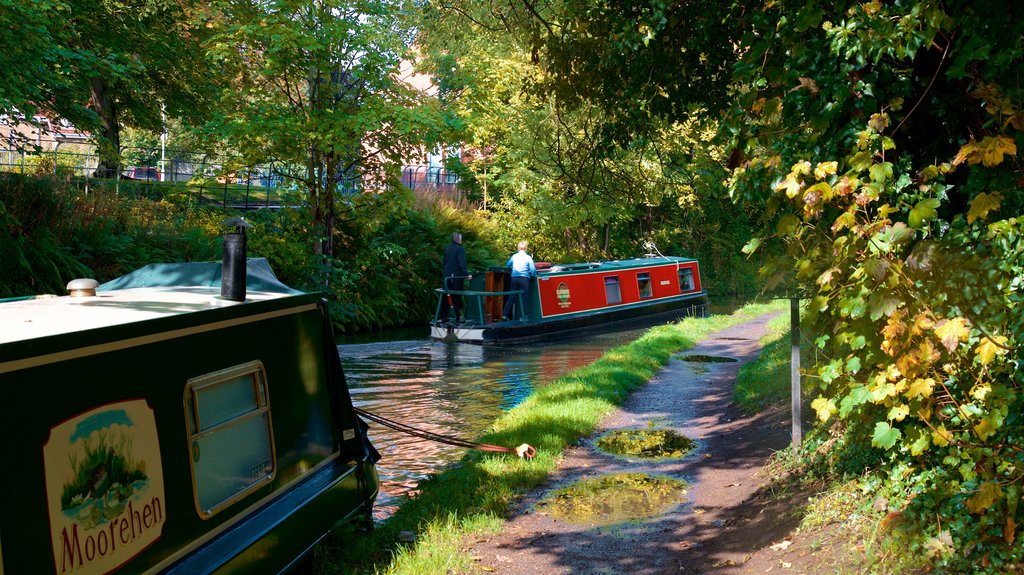Lymm which includes boating and a river or creek