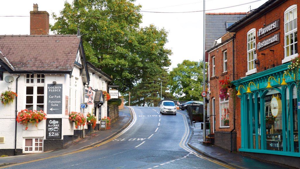 Lymm which includes a small town or village