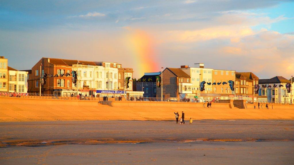 Central Beach featuring a beach, a coastal town and general coastal views