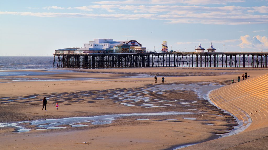 Blackpool Beach featuring general coastal views, a sandy beach and landscape views