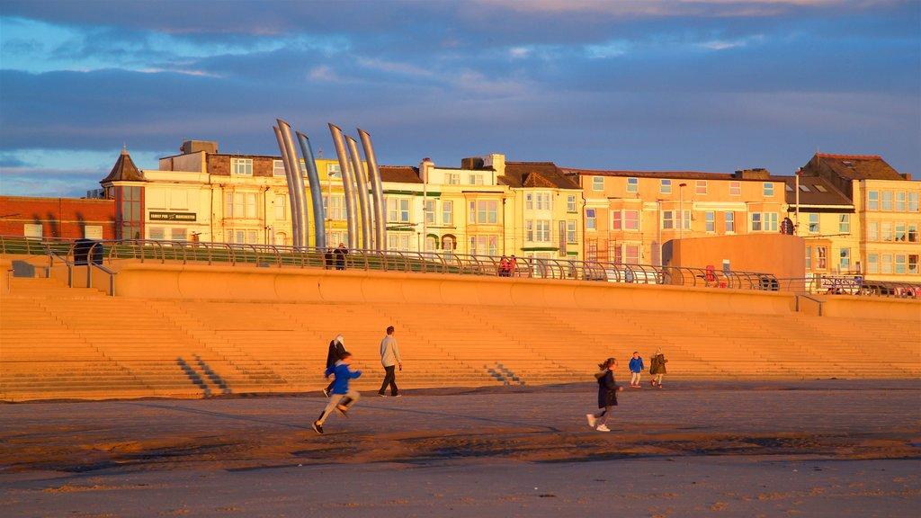 Central Beach featuring a sunset, a beach and landscape views