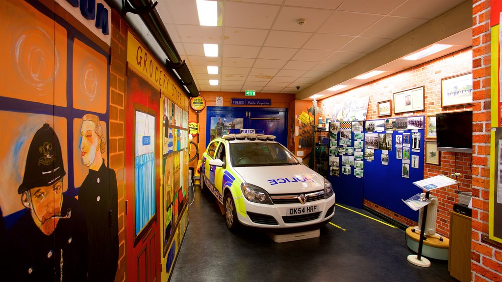 Museum of Policing in Cheshire which includes interior views