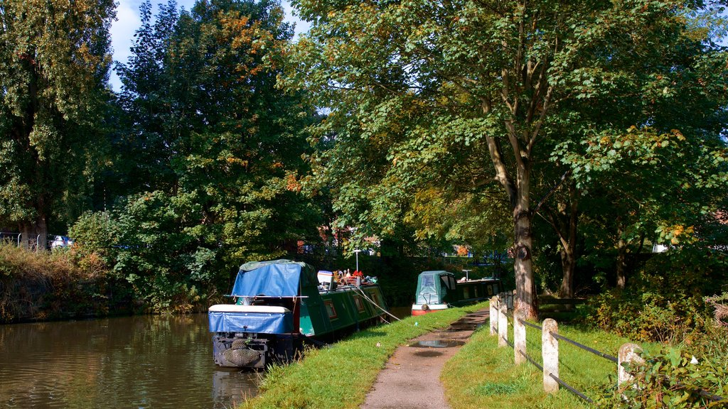 Lymm showing a river or creek