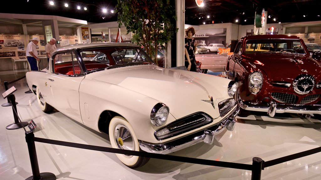 Studebaker National Museum showing interior views and heritage elements