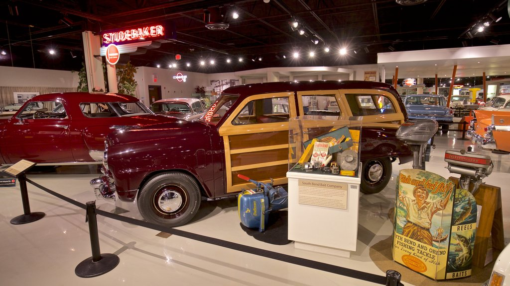 Studebaker National Museum featuring heritage elements and interior views