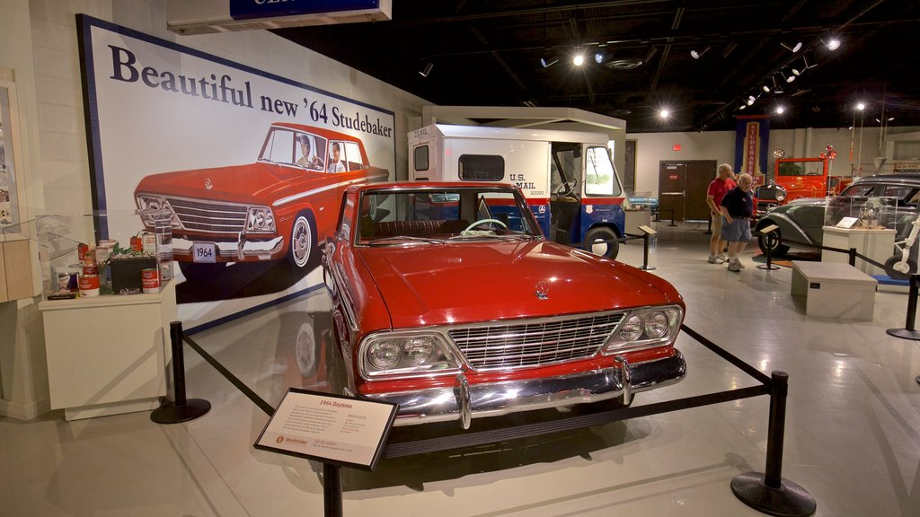 Studebaker National Museum showing heritage elements and interior views