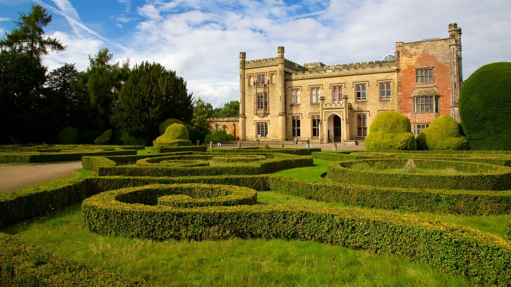 Elvaston Castle which includes a garden, heritage architecture and a castle