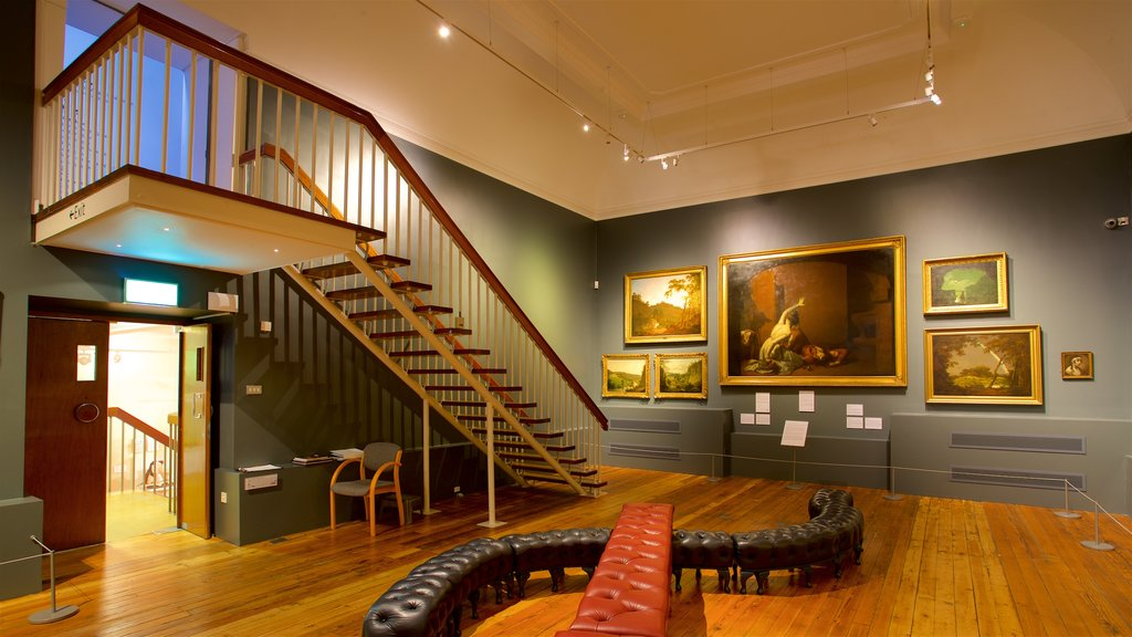 Derby Museum and Art Gallery featuring interior views and art