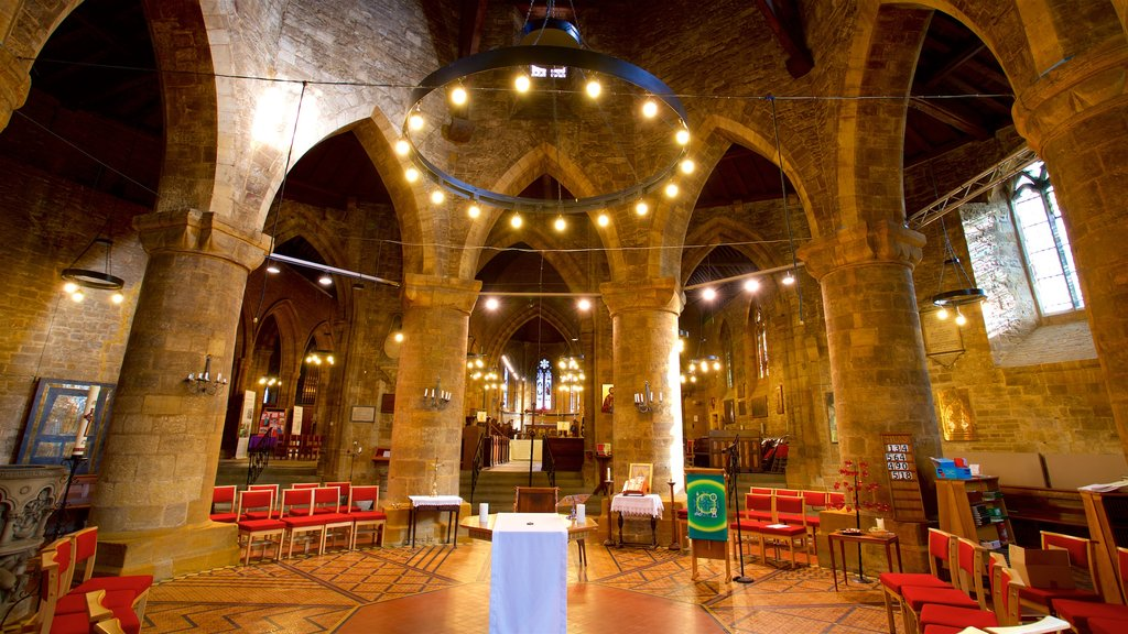Church of the Holy Sepulchre featuring heritage elements and interior views