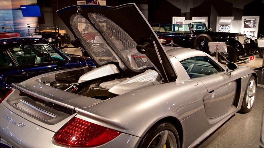 Royal Automobile Museum featuring interior views