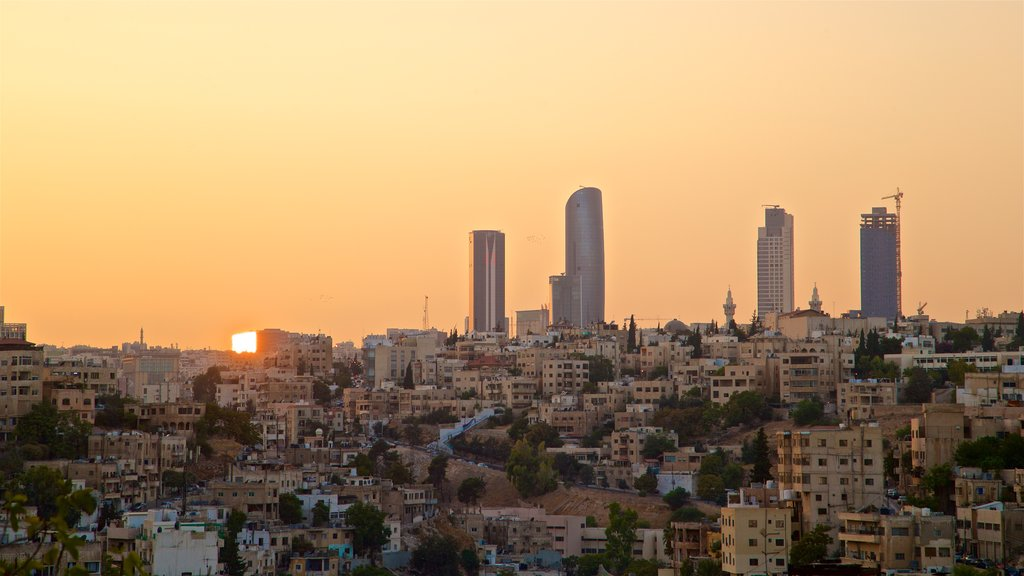 Amman which includes a city, a high rise building and skyline
