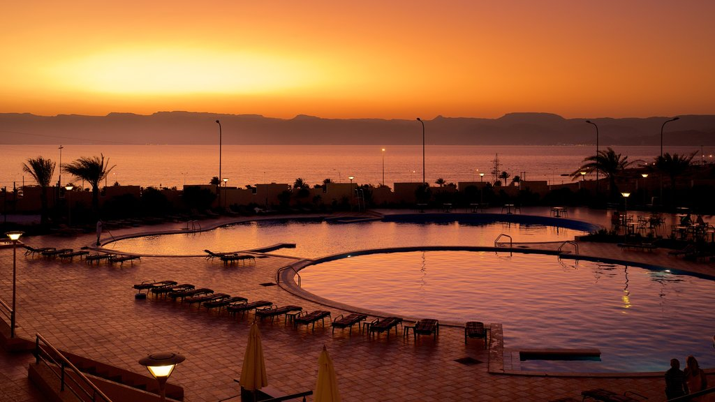 Aqaba which includes a luxury hotel or resort, landscape views and general coastal views