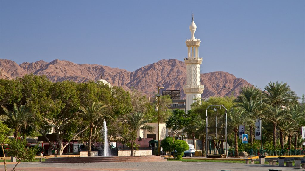 Aqaba which includes heritage elements and a fountain