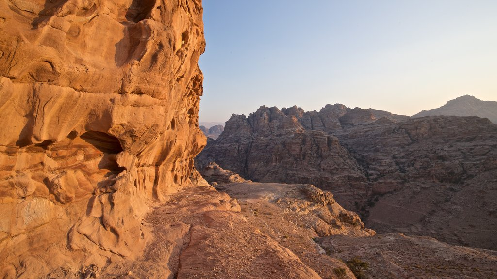 Petra which includes landscape views and a gorge or canyon