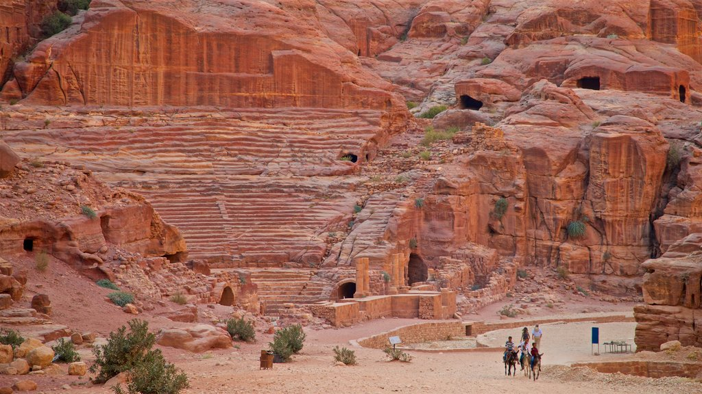 Nabatean Theater featuring a ruin, heritage elements and a gorge or canyon