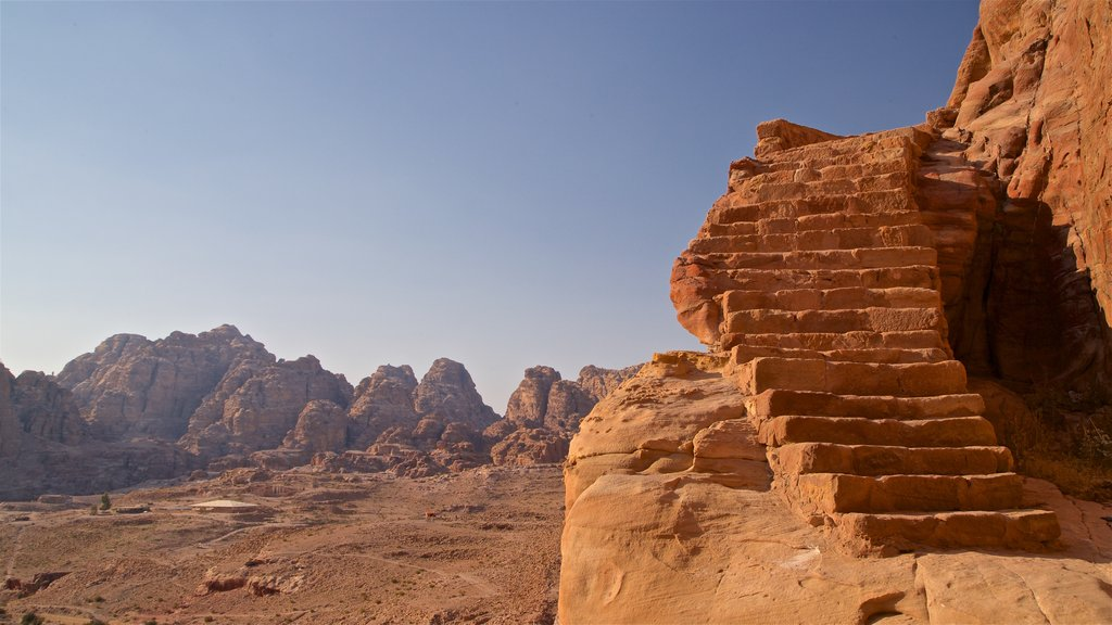 Wadi Musa showing landscape views, a gorge or canyon and desert views