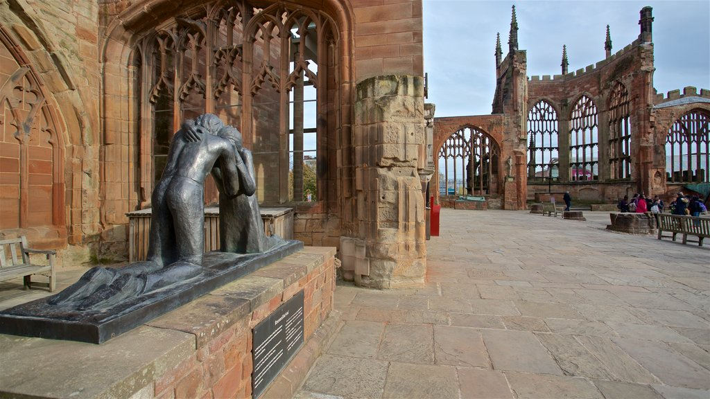 Coventry showing heritage elements and a statue or sculpture
