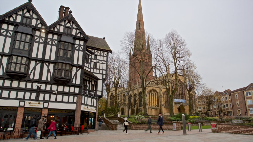 Coventry which includes heritage architecture and a church or cathedral
