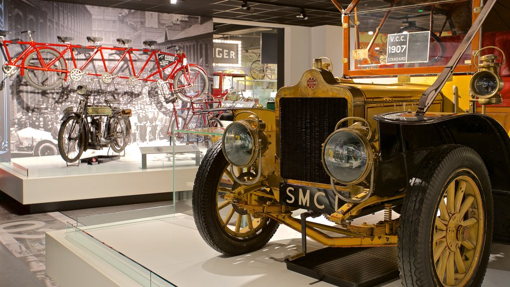 Coventry Transport Museum featuring heritage elements and interior views