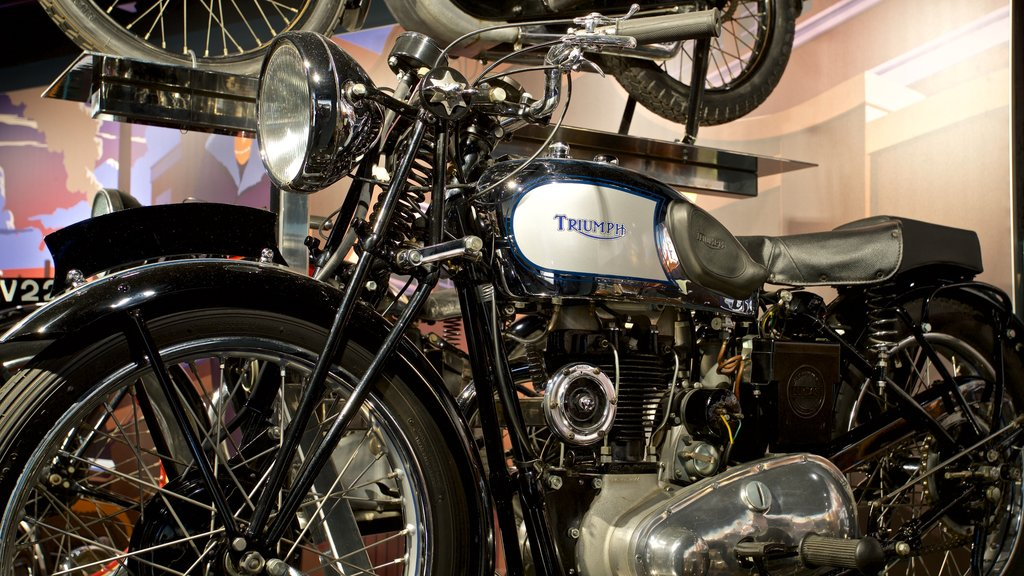 Coventry Transport Museum which includes heritage elements and interior views