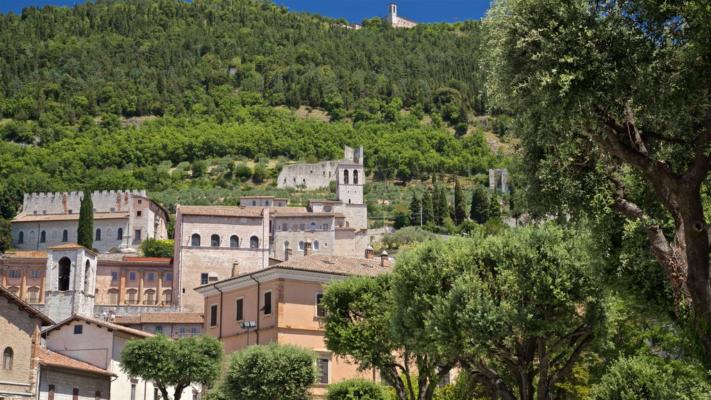 Gubbio featuring a small town or village and landscape views