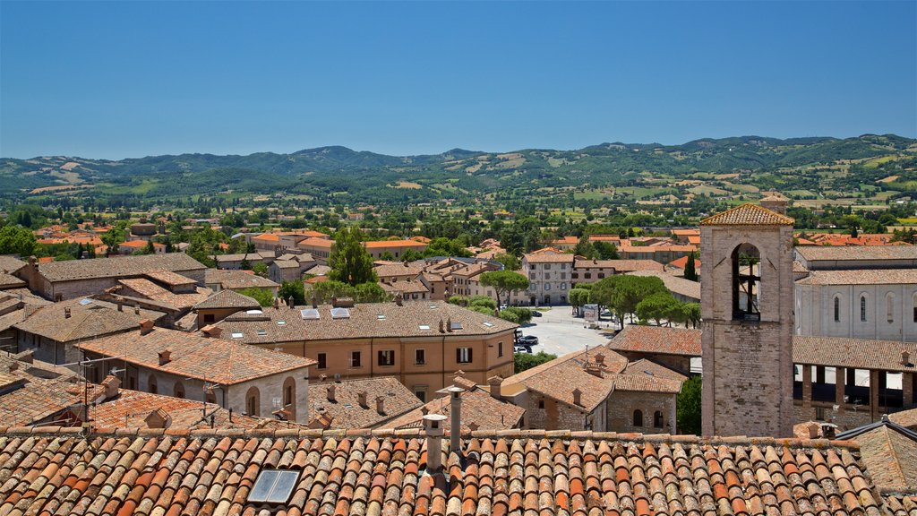 Gubbio which includes landscape views and a small town or village
