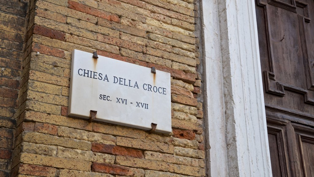 Senigallia featuring signage